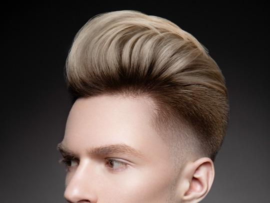 Pompadour Straight Hair