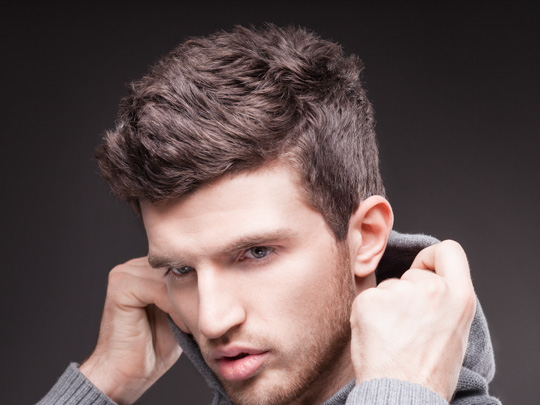 Short Curly or Permed Mohawk