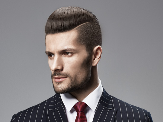 Classic Short Comb-over man in suit