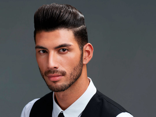 Short Pompadour with beard