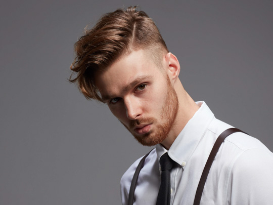 Medium Side-swept Men's Hairstyle variation