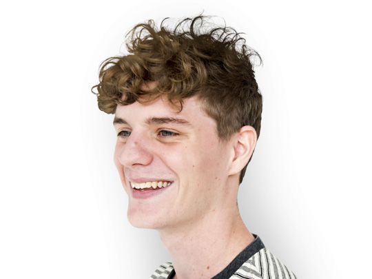 Curly Fringe hairstyle men