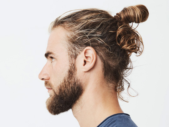 "Samurai Haircut (Top Knot or Man Bun)"">"