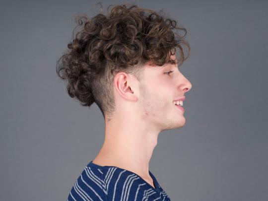 Long Curly Hair Fade