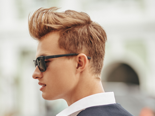 Faux Hawk man with sunglasses