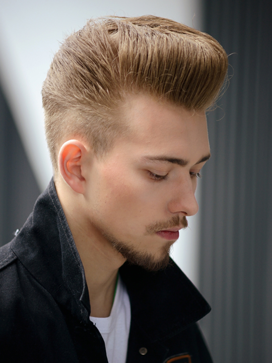Short Mohawk with Fade with beard