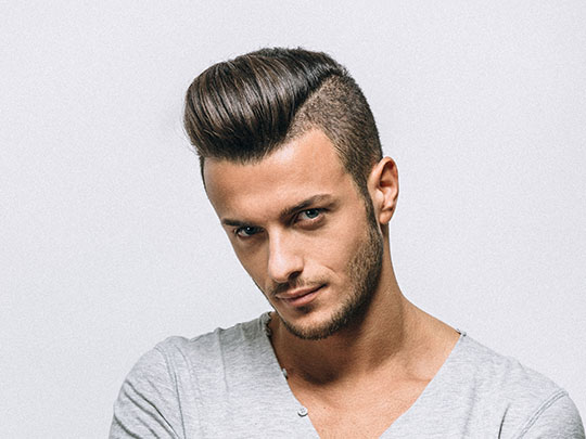Pompadour Straight Hair